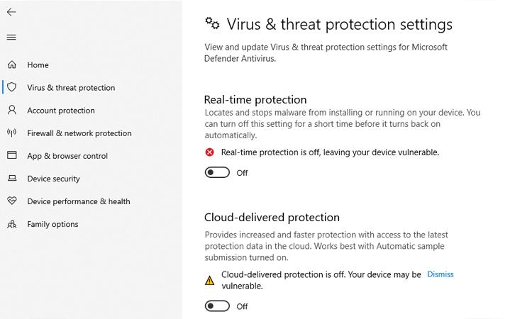 Disable Antivirus Scan