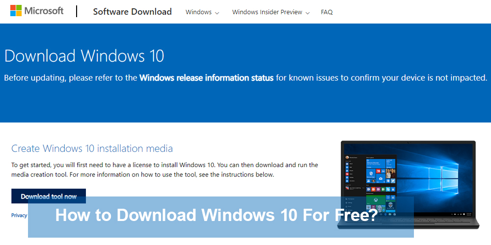 How to Download Windows 10 For Free?