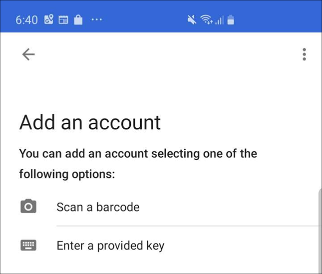 Google Authenticator app Scan Code