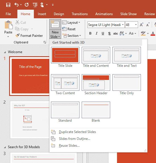 Adding more slides in PPT