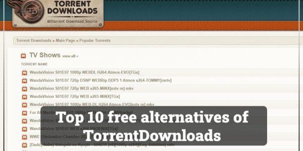 TorrentDownloads proxy alternative and mirror sites