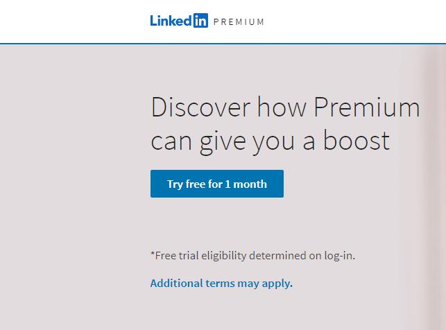 Free Monthly Linkedin Premium Trial